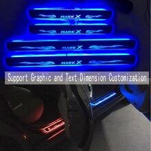 Для Sentra дверной Динамический светодиодный светильник, Накладка на порог, приветственная педаль, автомобильный Стайлинг, мерцающие дверные пороги, освещение для Toyota MARK-X eiz
