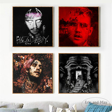 купить Hellboy Lil Peep Singer Art Posters And Prints Wall Art Canvas Painting For Living Room Decoration Home Decor Unframed Quadro онлайн