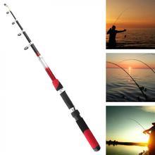 3.0 1m ブラック & レッド色 7 節ポータブル伸縮ガラス繊維釣竿旅行海岩釣竿