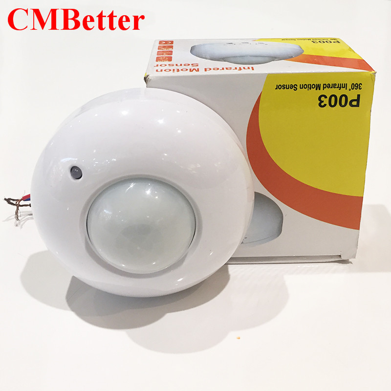 CMBetter High Quality New 360 Degree 110-220V Ceiling Infrared PIR Motion Sensor Switch For Light 1200w  sensor detector high quality wall mounted pir motion sensor light switch max 600w load 9m max distance 1pc gs45