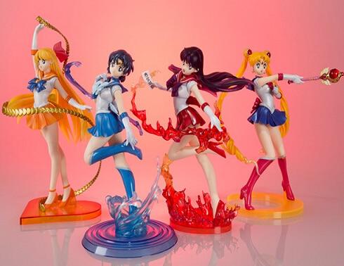 NEW hot 17cm Sailor Moon Sailor Mercury Sailor Venus Sailor Mars action figure toys Christmas toy