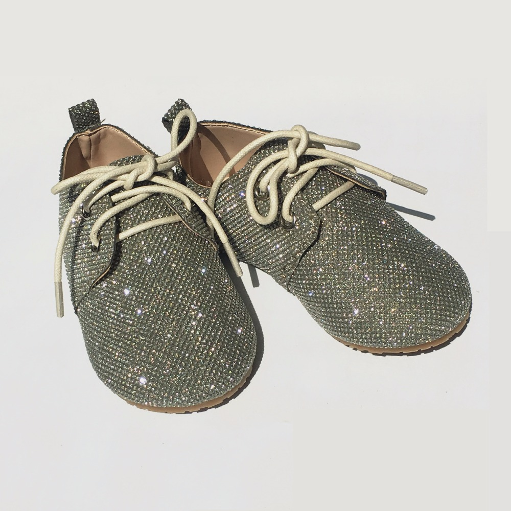 Littlesummer Children's <font><b>Shoes</b></font> Shiny Crystal <font><b>Material</b></font> Non-slip Baby Boy <font><b>Shoes</b></font> Kids School <font><b>Shoes</b></font> Girls Casual <font><b>Shoes</b></font> image