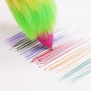 Image 2 - 50 шт. плюшевая ручка, шестицветная шариковая ручка, оптовая продажа, канцелярские товары для творчества студентов, Офисная подарочная ручка для письма