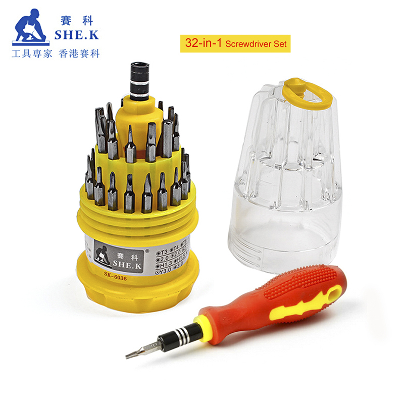 Profession Precision Screwdriver Set of 32 in 1 mini magnetic Screwdriver Set 6A