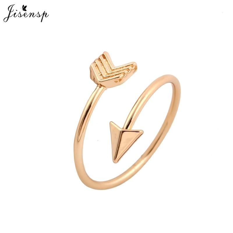 Jisensp модные кольца латунное маленькое Золотое кольцо со стрелкой милые свадебные ювелирные кольца для женщин Новогодний подарок регулируе...