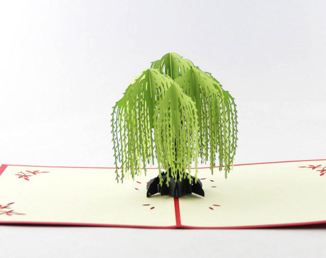 Online shop willow tree pop up card3d kirigami card handmade image m4hsunfo