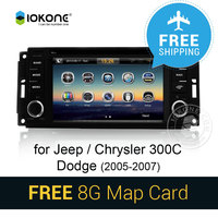 For Jeep Chrysler 300C Dodge 2005 2006 2007 Car DVD Player Stereo GPS Navi With Video