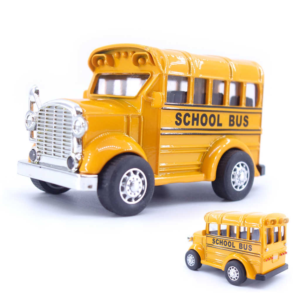 1:38 Hot School Bus Alloy Pull Back Diecast Model Toy Car Vehicle Brinquedos Baby Toys Educational For Children Kids