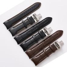 מחורצים גברים של שעון להקות עבור Tissot T035 1853 אמיתי עור שעון רצועת T035627A 417a Watchbands 22MM 23mm 24mm להקת שעון