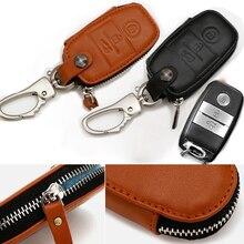 Car Key Cover For KIA Soul K3 Forte Cerato Sorento Auto Bag Accessories Genuine Leather Auto