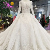 AIJINGYU Mother Of The Bride Gowns Branding Tulle Train Brides Bridal Price Gown Princess Modern Wedding Dresses With Sleeves