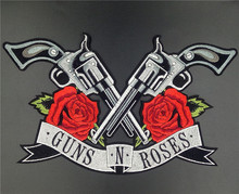 New! Guns N Roses patches 21X36cm Iron on Patch / Embroidered Patch This Appliques Are Great for T-shirt, Jean ,Jacket, Backpack