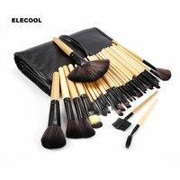 ELECOOL 32pcs Makeup Brushes Set Contour Foundation Powder Eyeshadow Eyeliner Lip Blush Brushes With Bag Cosmetics