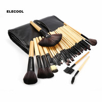 ELECOOL 32PCS Makeup Brushes Set Contour Foundation Powder Eyeshadow Eyeliner Lip Blush Make up Brushes with Bag Cosmetics Tool