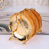 Creative Plate Dessert Dish Fruit Snack Tray Elegant Coaster Luxury Cup Stand Wedding Table Centerpieces Home Hotel Decoration