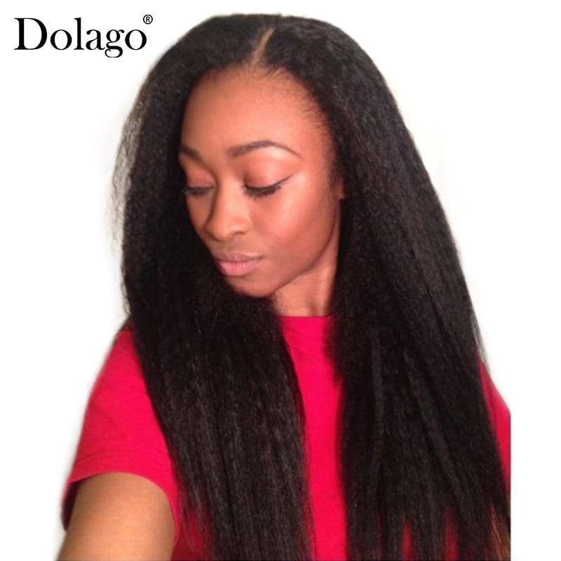 Kinky Straight Hair Brazilian Hair Weave Bundles Natural Color Coarse Yaki Human Remy Hair Extension Dolago 1 Or 3 Bundles