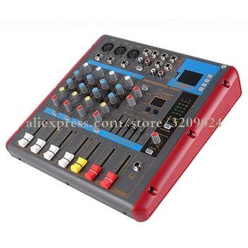 4 канальная студийная микшерная консоль для караоке, звуковой Миксер с Bluetooth, 48 В, запись монитора