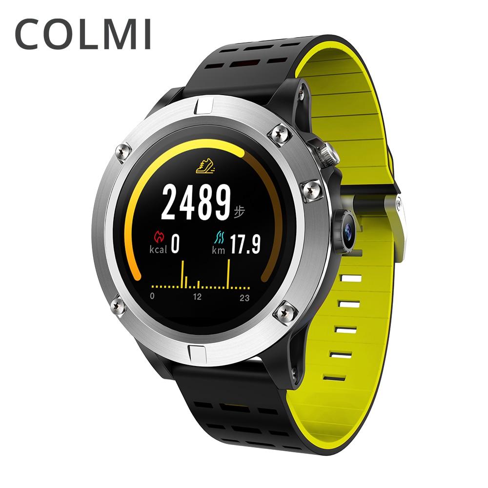 COLMI S1 GPS Smart Watch IP68 Waterproof AMOLED Screen Rotate Button Compass Heart Rate Monitor Clock Sport Smartwatch garmin fenix 5s sapphire 42mm sports gps heart rate watch with compass