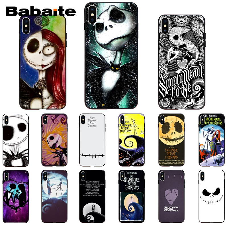 Nightmare Before Christmas Phone Case.The Nightmare Before Christmas Jack Skellington And Sally Newly Phone Case For Iphone 8 7 6 6s Plus 5 5s Se Xr X Xs Max