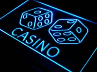 I347 Casino Dice Lucky Game Bar Pub LED Neon Light Sign On Off Switch 20 Colors