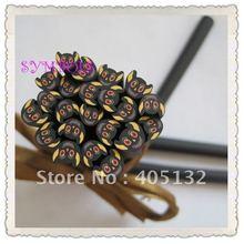 Я-25 100 шт. 5 мм Хэллоуин Черный Призрак Кане Необычные Nail Art Полимерная Глина Кейн