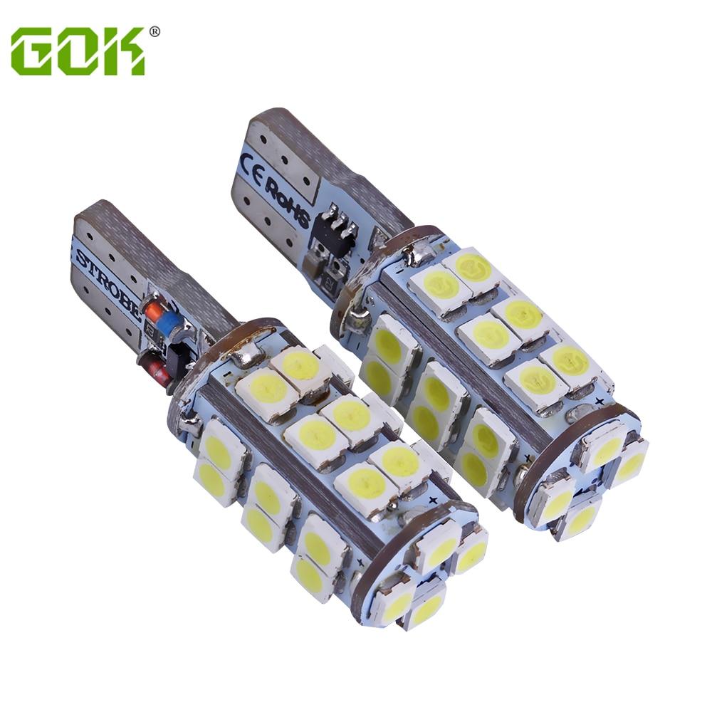 50PCS / LOT T10 led stroboskop vysoké kvality Strobe flash w5w 30smd t10 30led 1206 smd auto led žárovky velkoobchodní doprava zdarma