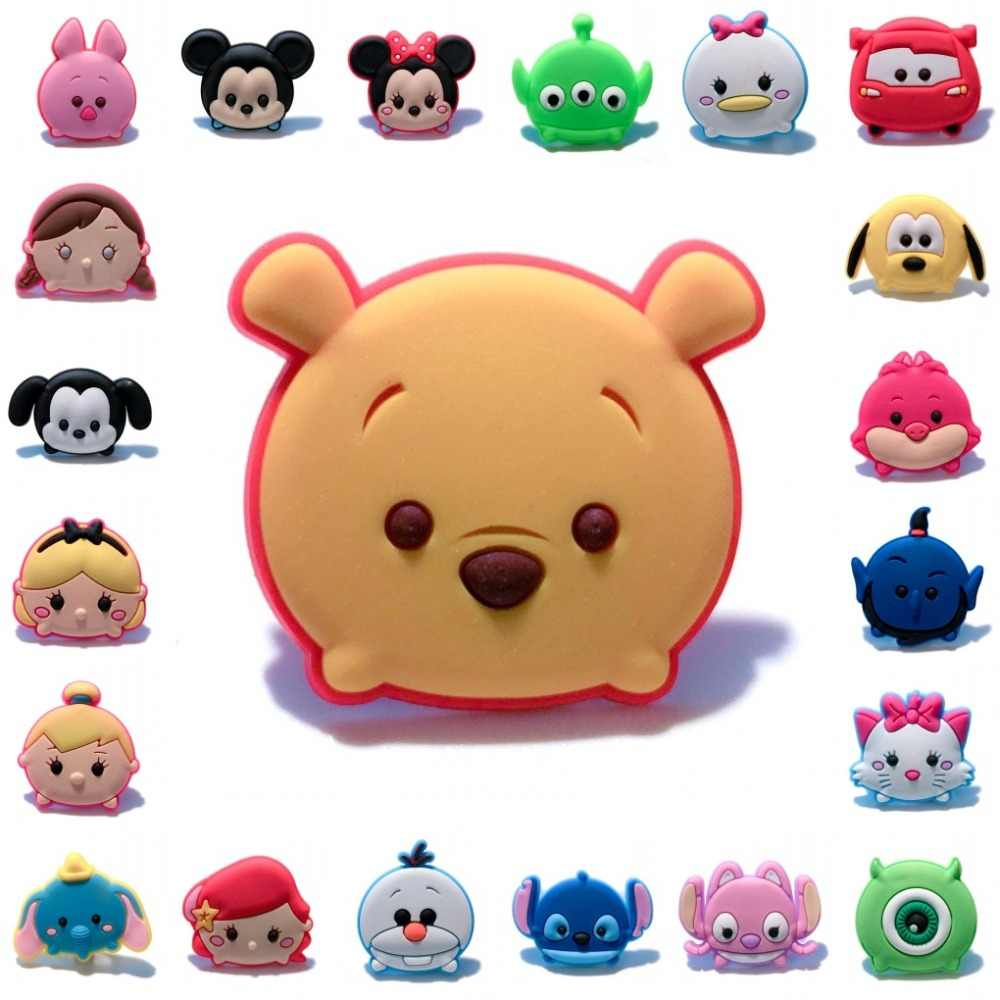 Single Sale 1pc Tsum Tsum Cute Cartoon Pins badges Brooches Collection Charms Fit Hat Clothes Bags Decoration Gift For Kids