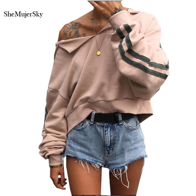 SheMujerSky Women Sweatshirts Slash Neck Sweat femme sudaderas mujer 2017 poleron mujer capucha