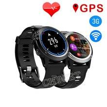 2017 H1 MTK6572 GPS Wifi 3G Cámara Del Reloj Inteligente 1.39 inch 400*400 pantalla de Monitor de Ritmo Cardíaco 4 GB/512 MB SmartWatch para Android IOS