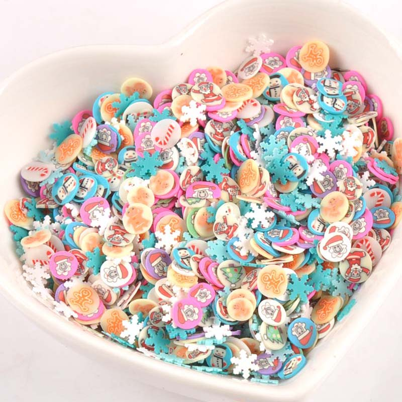 Diy Craft Supplies United 1000pieces Decor Christmas Polymer Clay Toy Diy Slime Accessories Decoration Jelly Mud Hand Gum For Kids Nails Art Tips Cp2213 Modern Design Apparel Sewing & Fabric
