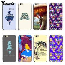 Yinuoda Alice in Wonderland cat для iphone 6 plus чехлы для iphone 8 8 plus 7 7plus 6s 6s Plus XSMax X XS XR(China)