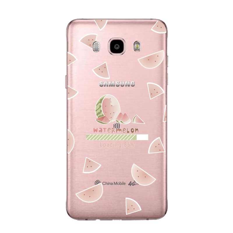 Owoce flory miękki przezroczysty TPU etui na telefony dla Samsung J3 J5 J7 S6 S7 S8 note8 A3 A5 C7 J2prime ananas SiliconeCover darmowa wysyłka