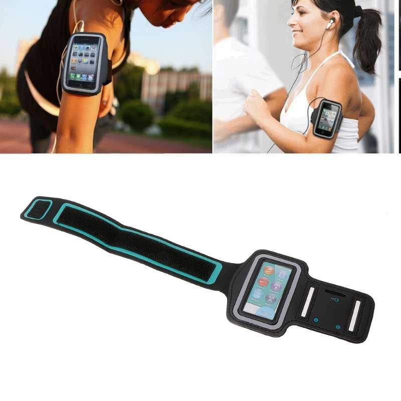 Opaska na ramię sport skórzany pokrowiec torba do biegania dla Apple ipod touch Nano Mp3 Mp4