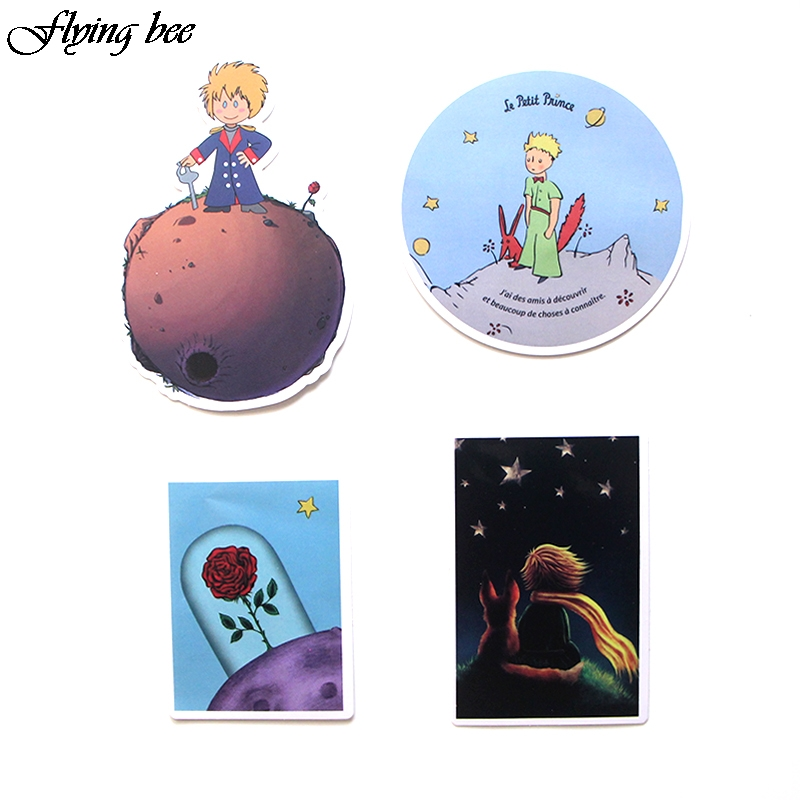 Image 5 - Flyingbee 23 Pcs Little Prince Cartoon Stickers for Kids DIY Luggage Laptop Skateboard Car Bicycle Waterproof Sticker X0023-in Stickers from Consumer Electronics