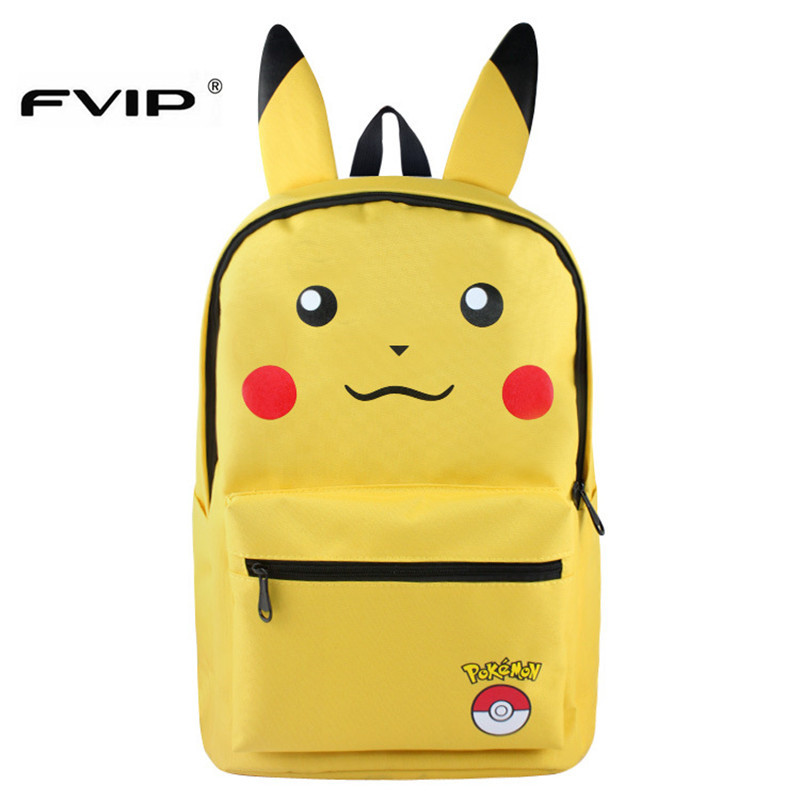 Fvip Pokemon Backpack Pikacun Students School Bags For Boys And Grils Student Bags Cartera Mochila Escolar Children Daily Bags