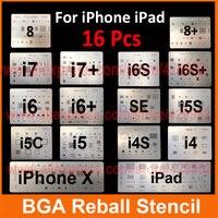 8pcs Lot IC Chip BGA Reballing Stencil Kits Set Solder Template For Iphone 4 4s 5