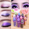 Hot Sale Makeup 11 Colors Eyeshadow Natural Luminous Warm Color Make Up Ball Glitter Fluorescence Eye Shadow Powder V344# 1Pcs