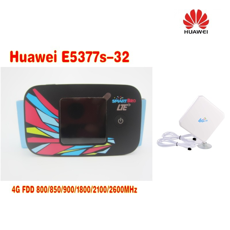 Huawei E5377s-32 CAT4 150Mbps 4G LTE FDD 3G UMTS WiFi Mobile Wireless Router+4g <font><b>TS9</b></font> 35dbi <font><b>antenna</b></font> image