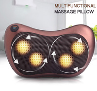 Shiatsu Massager Cushion with Heat Massage Pillow for Neck Lower Back Shoulder Muscle Pain Relief Dropshipping