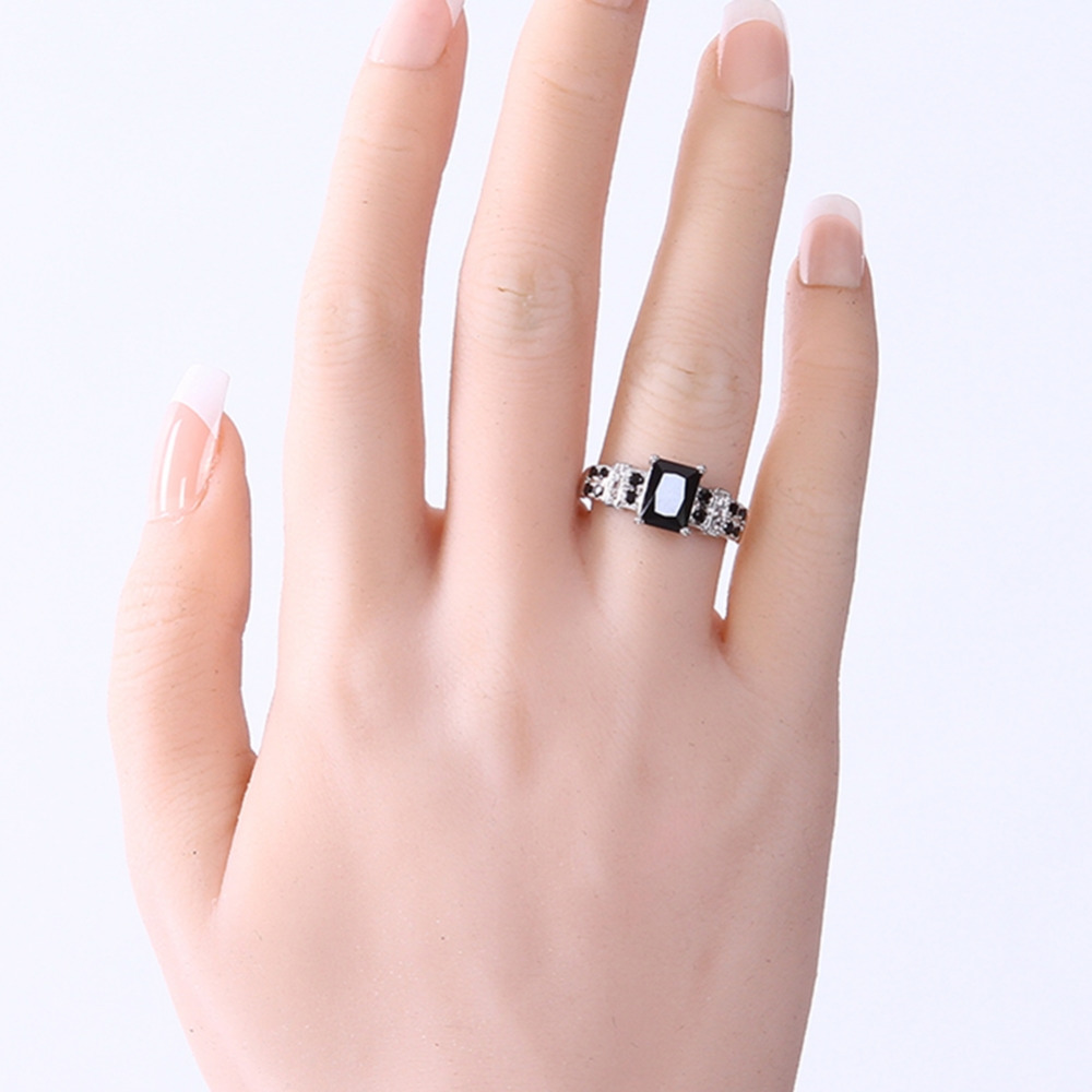New Arrivals Fashion Black Zircon Rings 316L Stainless Steel Mens ...