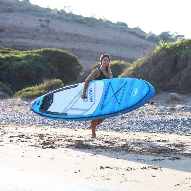 340*81*15cm planche de surf gonflable TRITON 2019 stand up paddle board surf AQUA MARINA planche de sport nautique planche de surf ISUP