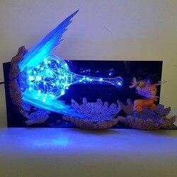 Lámpara Led de Son Goku Kamehameha de Dragon Ball Z, Escena de explosión, luces de noche DIY, Goku de Dragon Ball Super, lámpara de mesa para Navidad