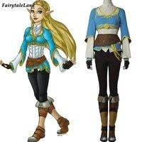 The Legend of Zelda Breath of the Wild Princess Zelda Cosplay Costume Hot Game Halloween fancy costume women custom made