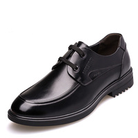 New Fashion Dress Elevator Shoes Grow Taller 6cm In Genuine Leather Shoes Invisible Increase Height