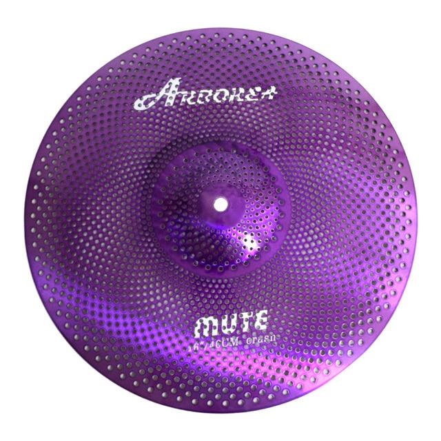 Arborea Purple Colour Mute cymbal 16 Crash