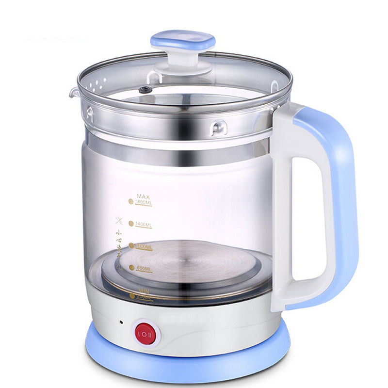 VOSOCO Electric kettle Quick Heating 800W 1.8L Prevent dry burning Multi function high boron silicon glass Health preserving pot bm 1b stainless steel multi function electric cooktop kanto cook dry heating