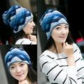 Popular Winter Diamond Hat Women Knit Slouchy Beanie Girls Bonnet Skull Baggy Warm Female Scarf Gorro Feminino Inverno Cap