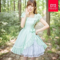 Royal fairy tale,2017 Japanese soft sister Princess LOLITA dress original chiffon summer cute dress w274