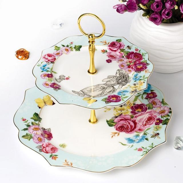 Klassische 2 Schicht Dessert Teller Und Platten Porzellan Geschirr ...