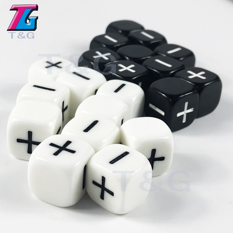 Brand New 10pcs/lot  2 Color 16mm Fate Or Fudge Dice ,